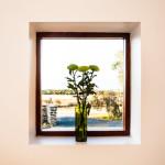 Jimmy Smiths Dairy Fleurieu Peninsula luxury accommodation kitchen window view.