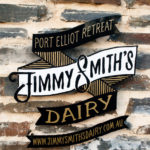 Jimmy Smiths Dairy luxury accommodation Port Elliot Fleurieu Peninsula stone entrance logo.