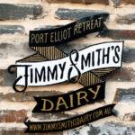 Jimmy Smiths Dairy luxury accommodation Port Elliot Fleurieu Peninsula stone entrance logo.