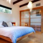 Jimmy Smiths Dairy luxury accommodation Port Elliot Fleurieu Peninsula master bedroom to living room.